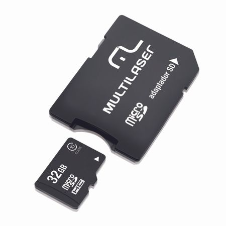 Adaptador Multilaser 2X1 SD + Cartao de Memória Classe 10 32GB - MC111