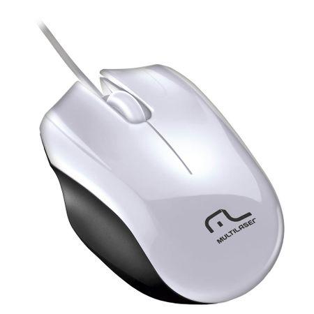 Mouse Multilaser SPort USB Branco USB - MO217