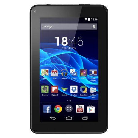 Tablet Multilaser M7S Quad Core Preto Android 4.4 Kit Kat Dual Câmera Wi-Fi...