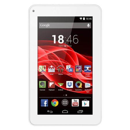 Tablet Multilaser M7S Branco Quad Core Android 4.4 Kit Kat Dual Câmera Wi-Fi...