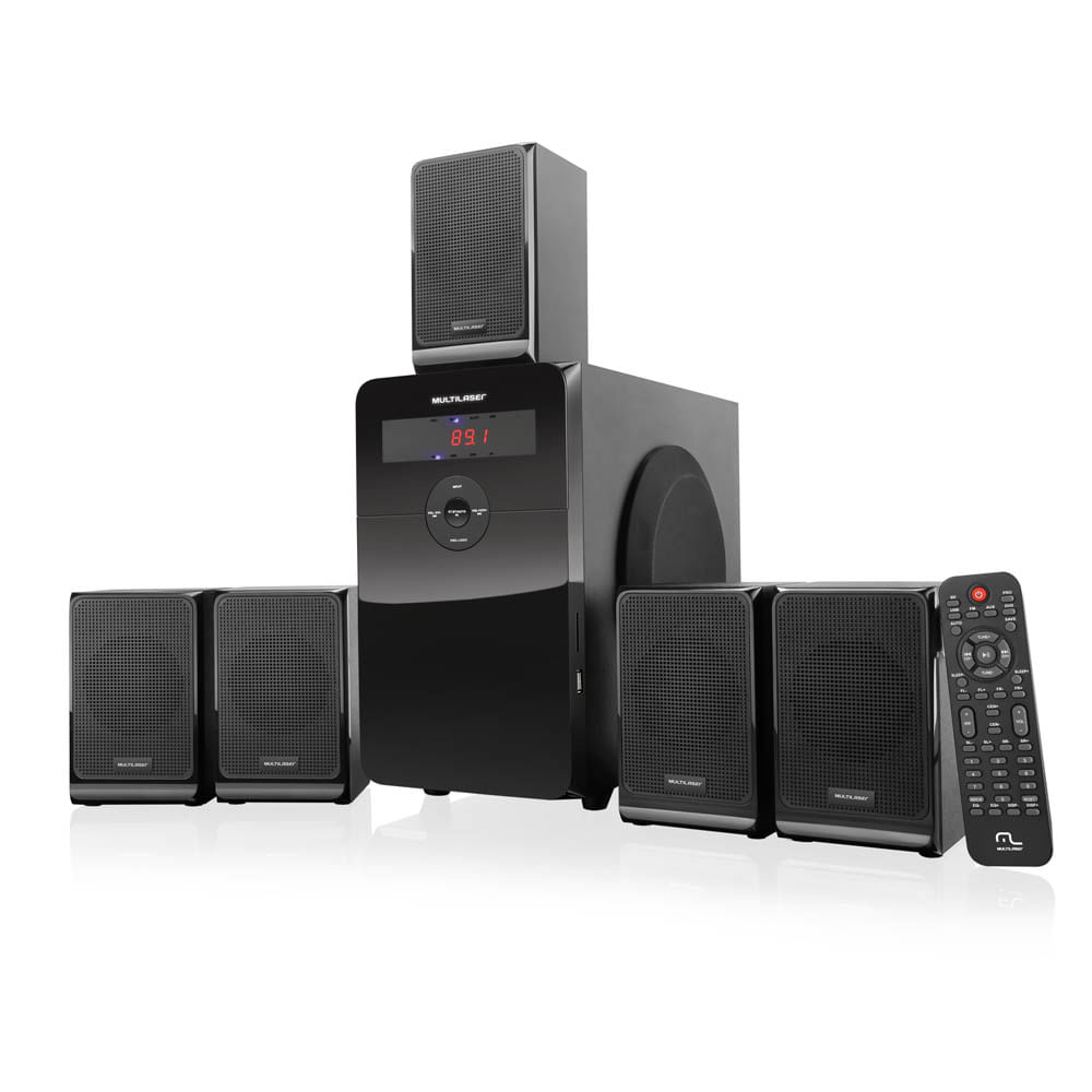 Home Theater Multilaser 5.1 80W RMS - SP177 SP177