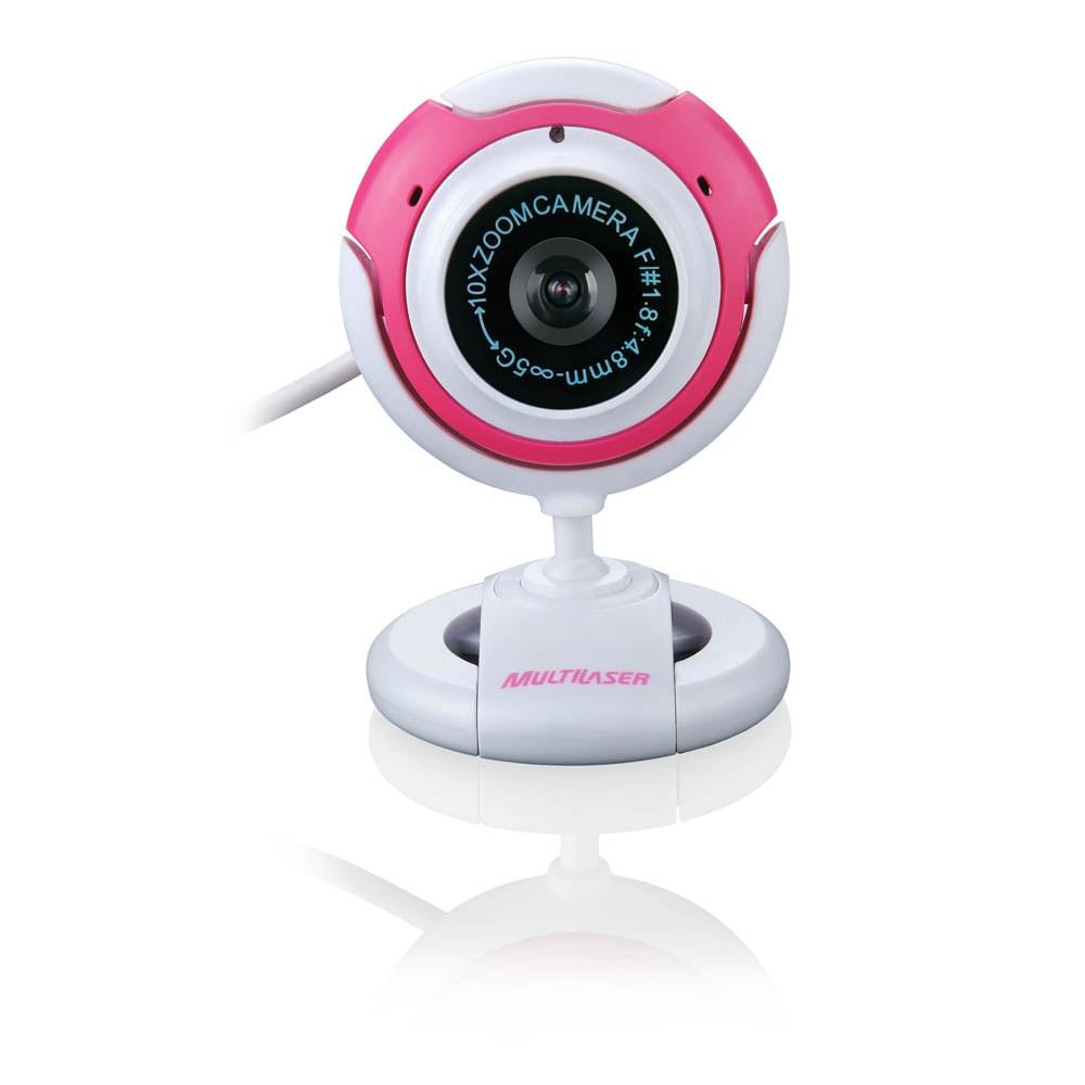 Webcam Multilaser 1.6Mp com Função Fotográfica Rosa - WC042 WC042