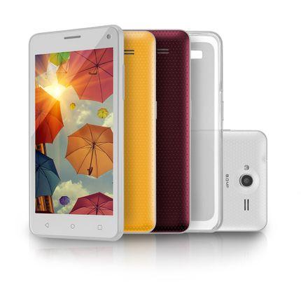 Smartphone Ms50 Colors Multilaser Branco 5 8.0mp 3g Quad 8gb 5.0 - P9002