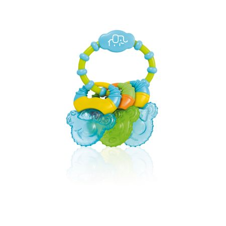 Mordedor com Gel Cool Rings Azul Multikids Baby - BB150