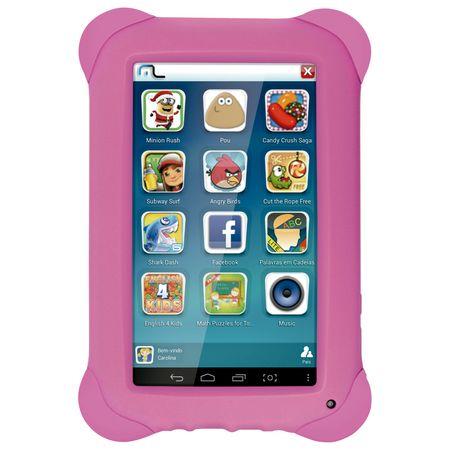 Tablet Multilaser Kid Pad Rosa Quad Core Dual Camera Wi-Fi Tela Capacitiva 7 ...