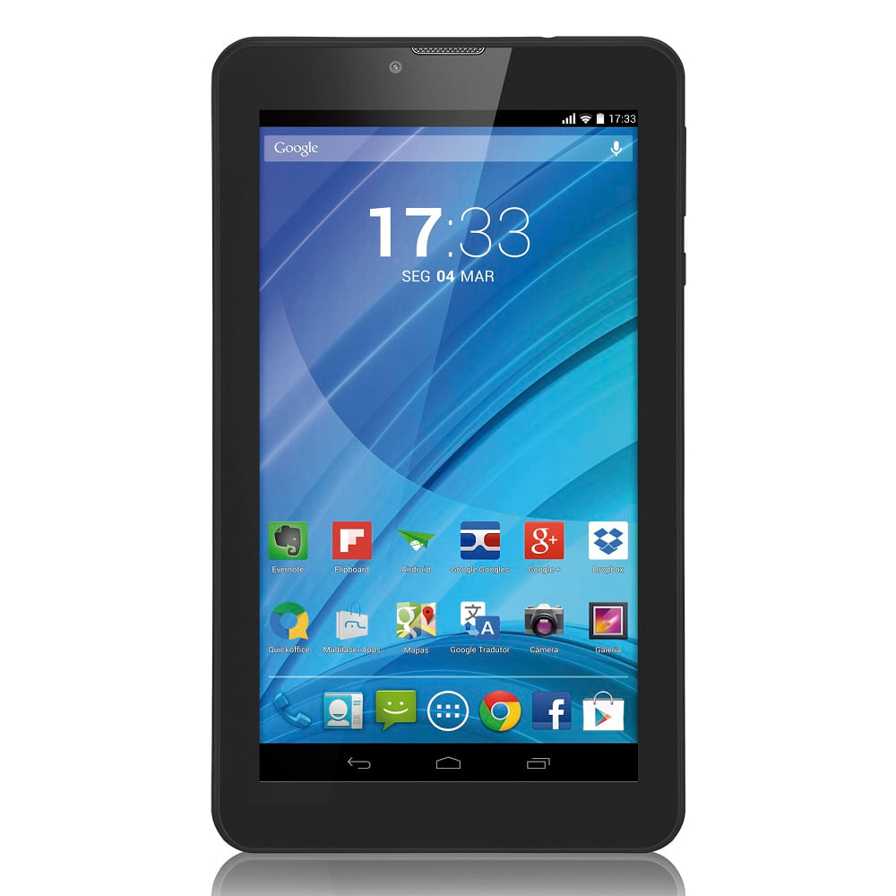 Tablet Multilaser Preto M7 3G Quad Core
