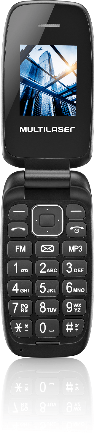Celular Flip Up Dual Chip MP3 Preto Multilaser - P9022 P9022