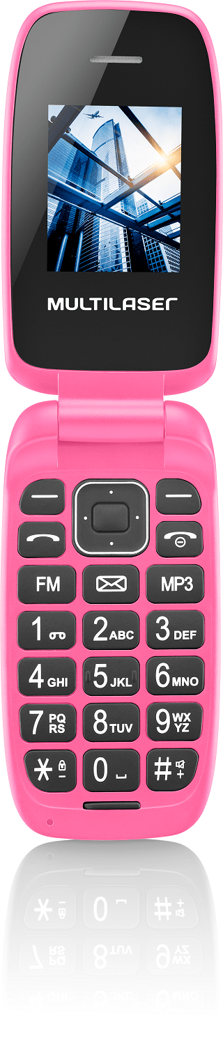Celular Flip Up Dual Chip MP3 Rosa Multilaser - P9023 P9023