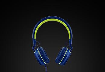 over-ear wired stereo audio | disponível em 4 cores