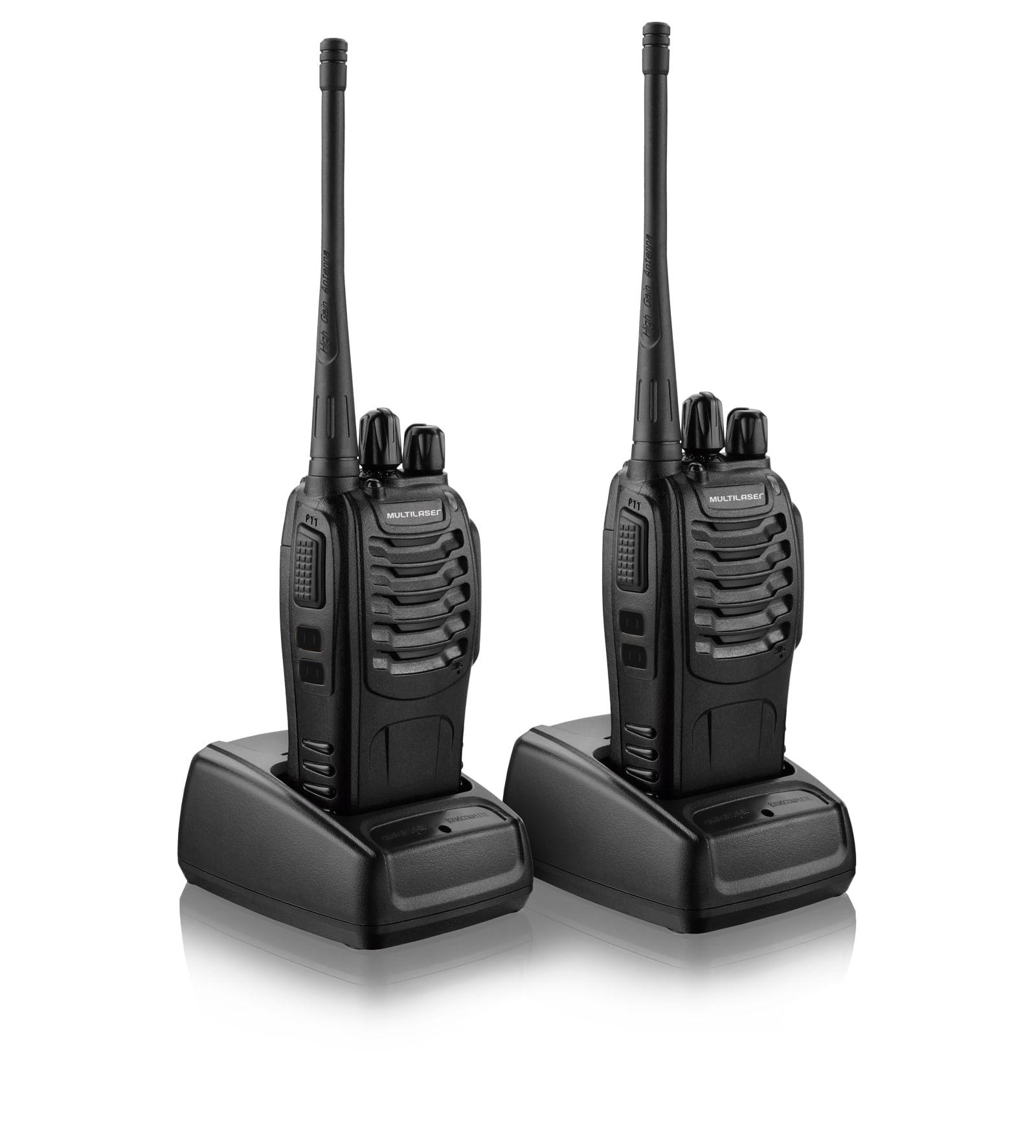 Par de Rádios comunicadores Multilaser 8Km Walkie Talkie - TV003 TV003