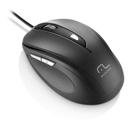 Mouse Multilaser Comfort 6 Botoes Usb Preto - MO241