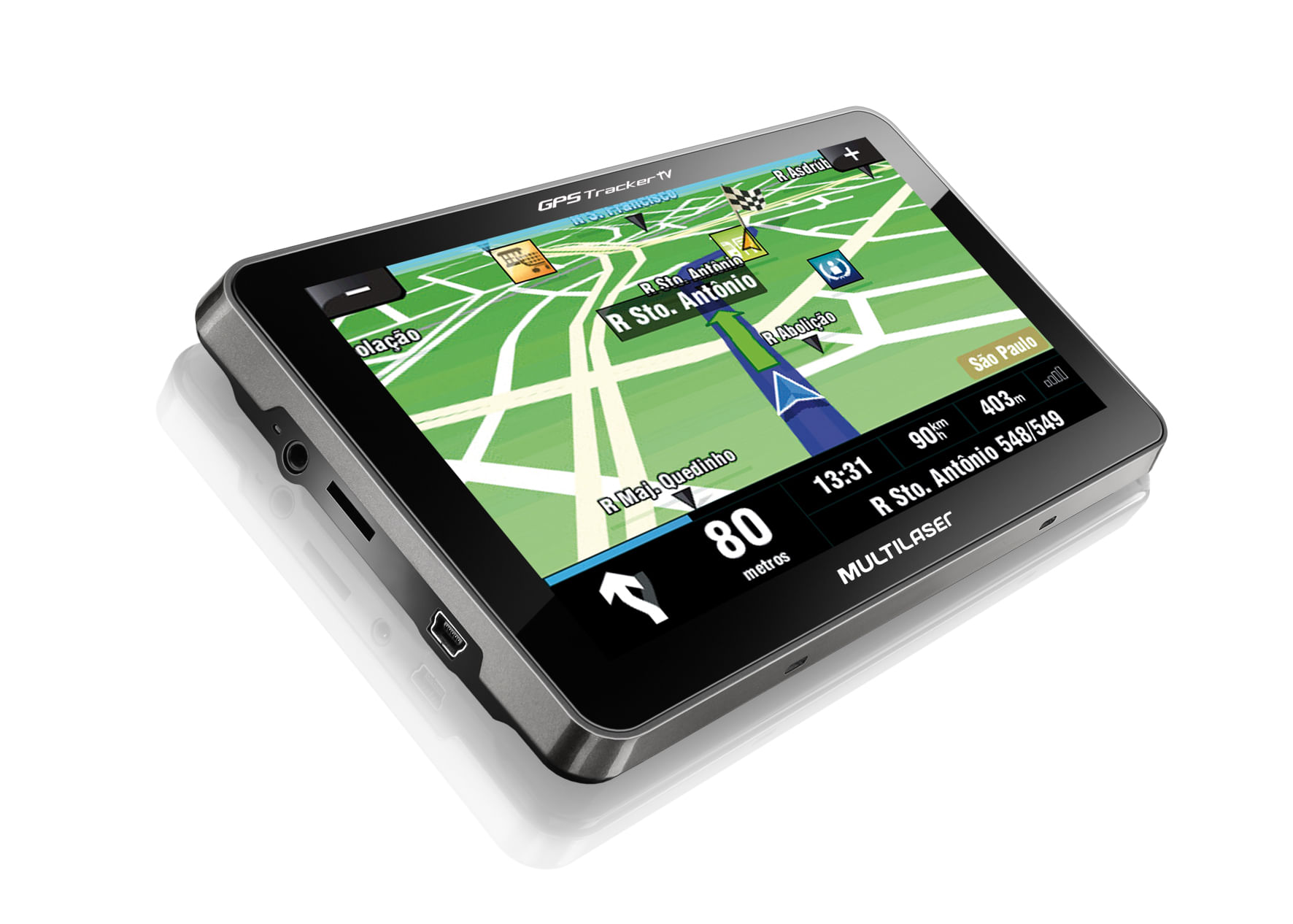 Gps Tracker 2 Multilaser Tela 7,0 com TV Rádio Fm - GP015 GP015