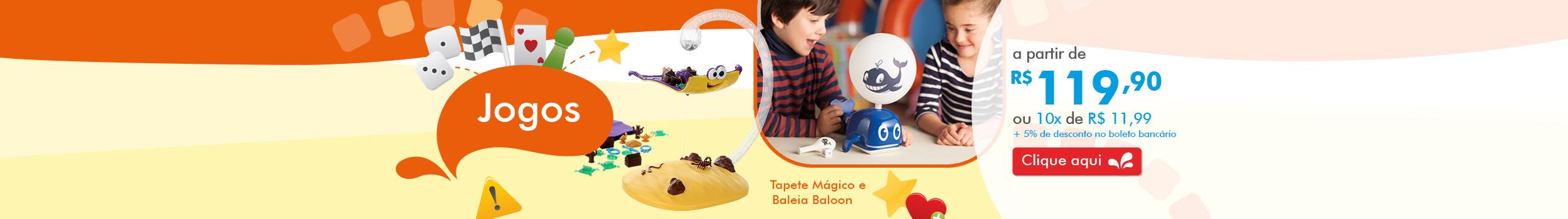 Jogos Tapete Magico e Baleia Baloon