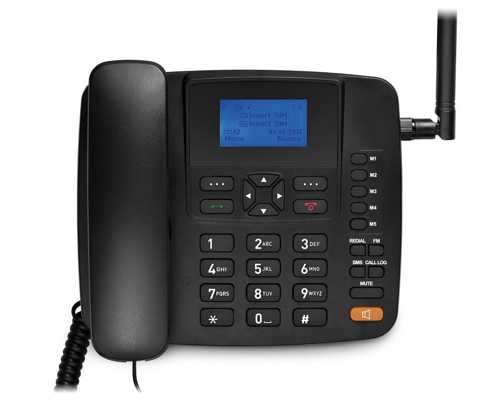Celular Rural Fixo Multilaser Quadriband 3G Preto - RE504 RE504
