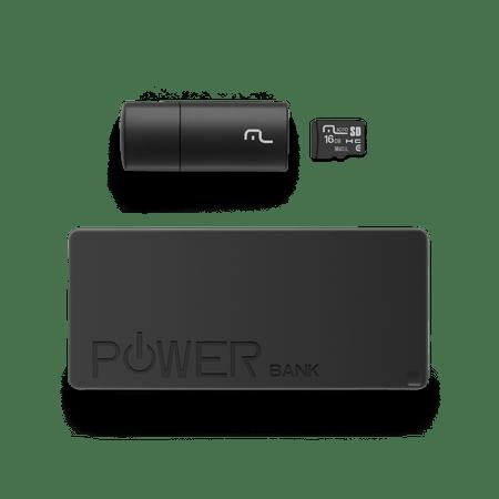 Kit Power Bank + Pendrive + Cartão de memória Micro SD com 16GB Multilaser -...