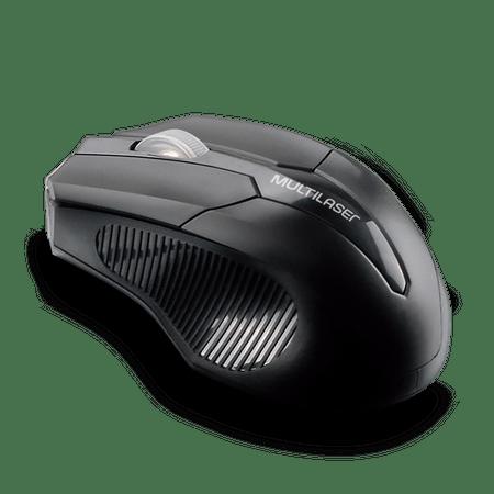 Mouse sem fio 2.4 GHZ USB Box Multilaser Preto - MO264
