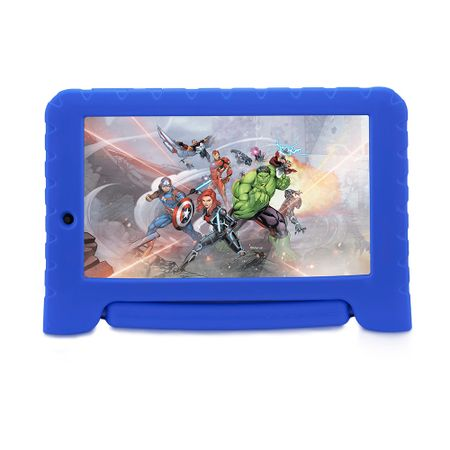 Tablet Disney Vingadores Plus Wifi 8GB Android 7 Dual Câmera Azul Multilaser -...