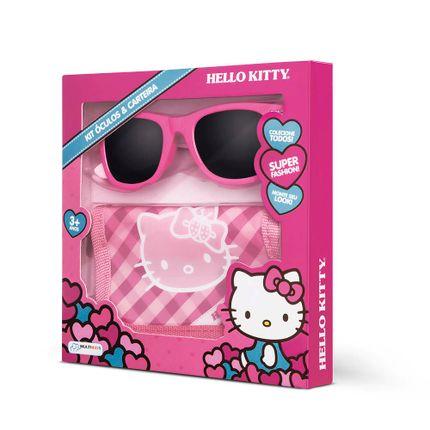 a2c1c71e9 Kit Óculos de Sol UVA 400 + Carteira da Hello Kitty Indicado para +3 Anos