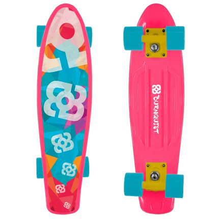 e407b25a58270 Skate Mini Cruiser Atrio Bob Burnquist Rosa - ES092 - lojamultilaser
