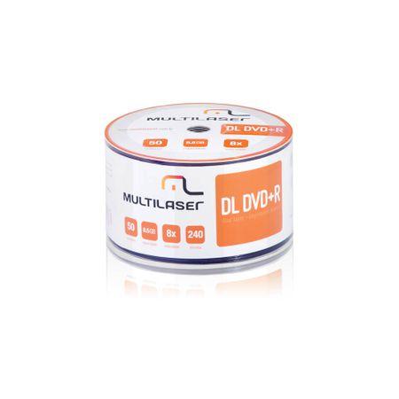 Midia DVD-R Shrink Imprimível com 50 Unidades Multilaser - DV047