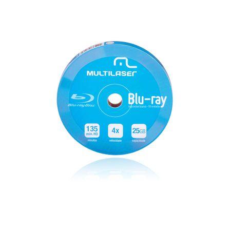 Midia DVD-R Multilaser Dv057 Shrink Blue Ray Pino com 10 Unidades - DV057
