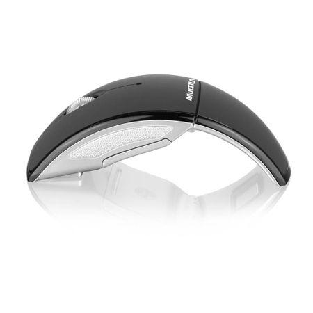 Mouse Multilaser Sem Fio 2.4 Ghz Arc Preto USB - MO153