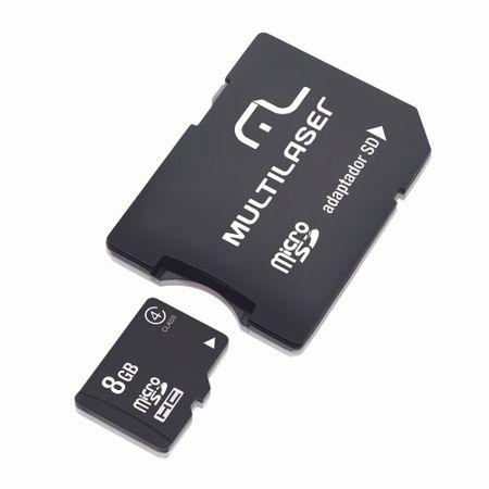Adaptador Multilaser SD Cartao de Memria Classe 4 8GB MC004