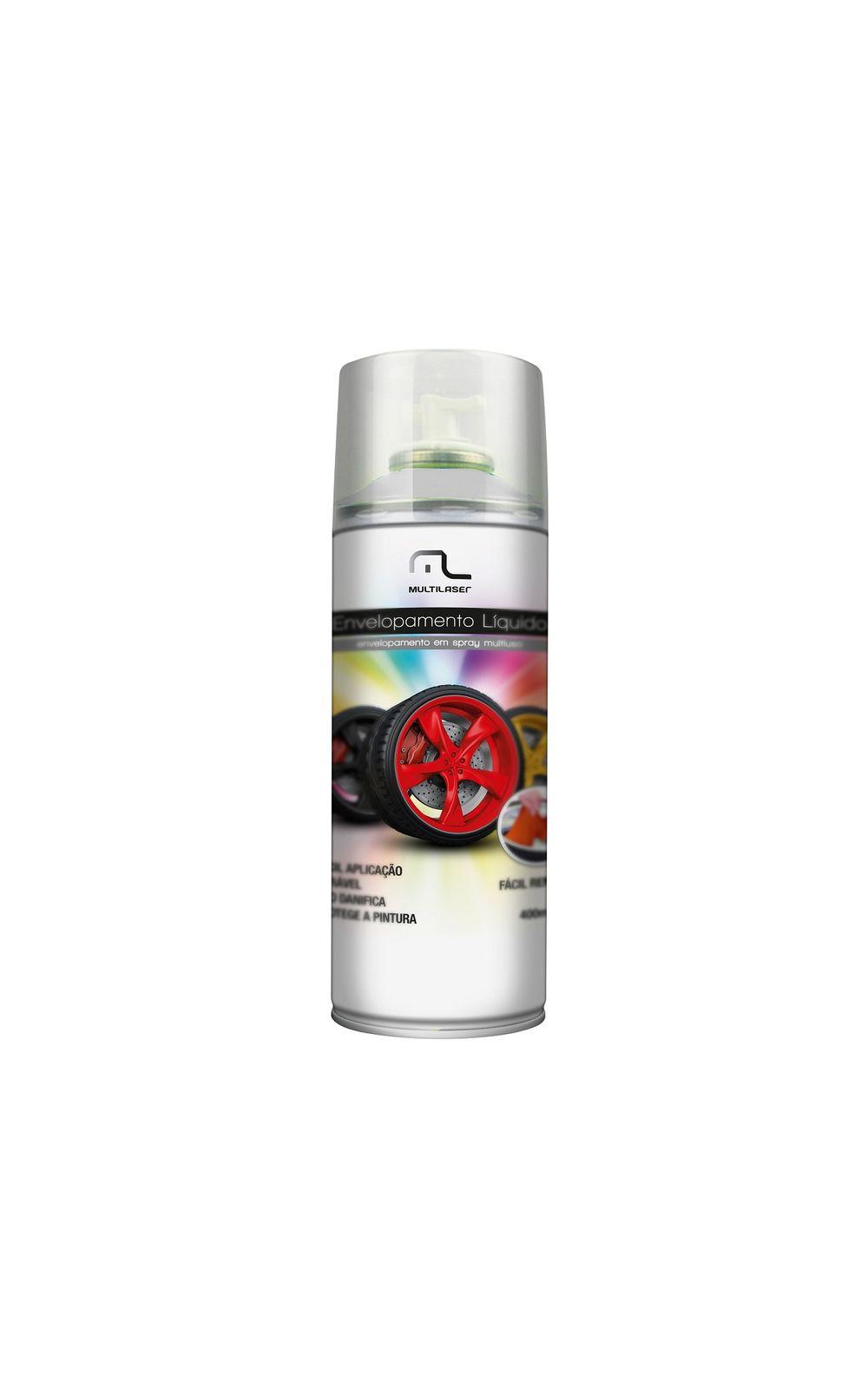 Foto 1 - Spray de Envelopamento Multilaser Liquido Branco Fosco 400ml - AU421