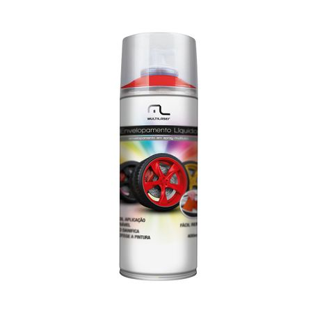 Spray de Envelopamento Multilaser Liquido Vermelho Fluorescente 400ml - AU424