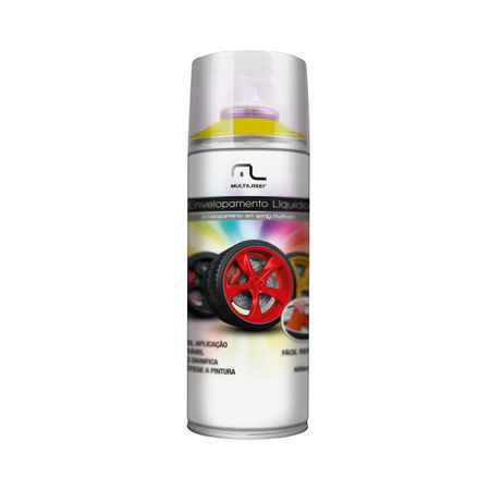Spray de Envelopamento Liquido Emborrachado Amarelo Fluorescente 400ml...