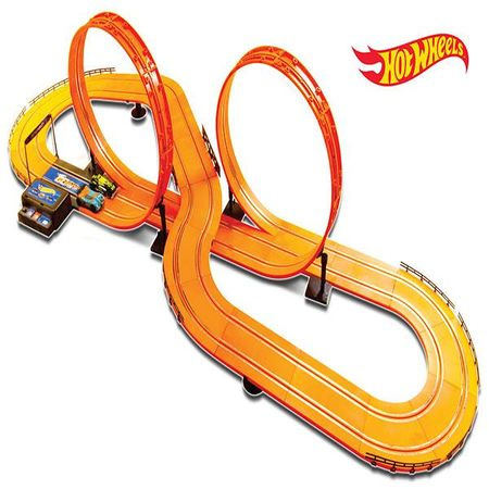 Pista Hot Wheels Track Set Deluxe 632cm com 2 Carrinhos + 2 Controles Indicado...