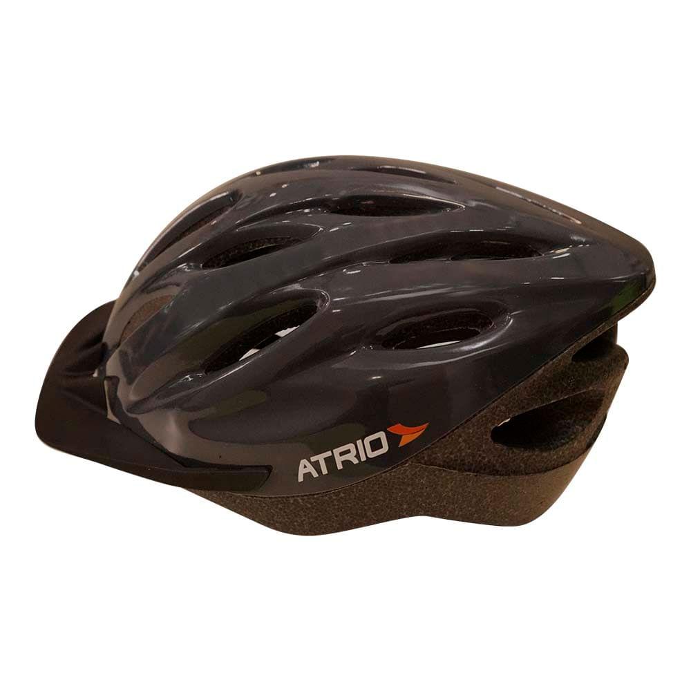 85055abce Capacete para Ciclismo MTB com LED Tam. M Viseira RemovÃvel e 19 Entradas  de Ventilação Preto Atrio - BI136Â