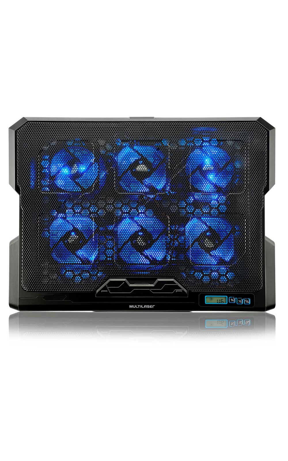 Cooler Para Notebook Com 6 Fans Led Azul Hexa Cooler - AC282