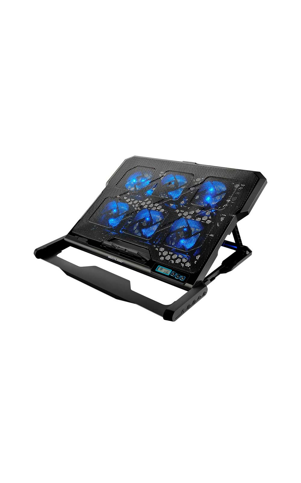 Foto 2 - Cooler Para Notebook Com 6 Fans Led Azul Hexa Cooler - AC282