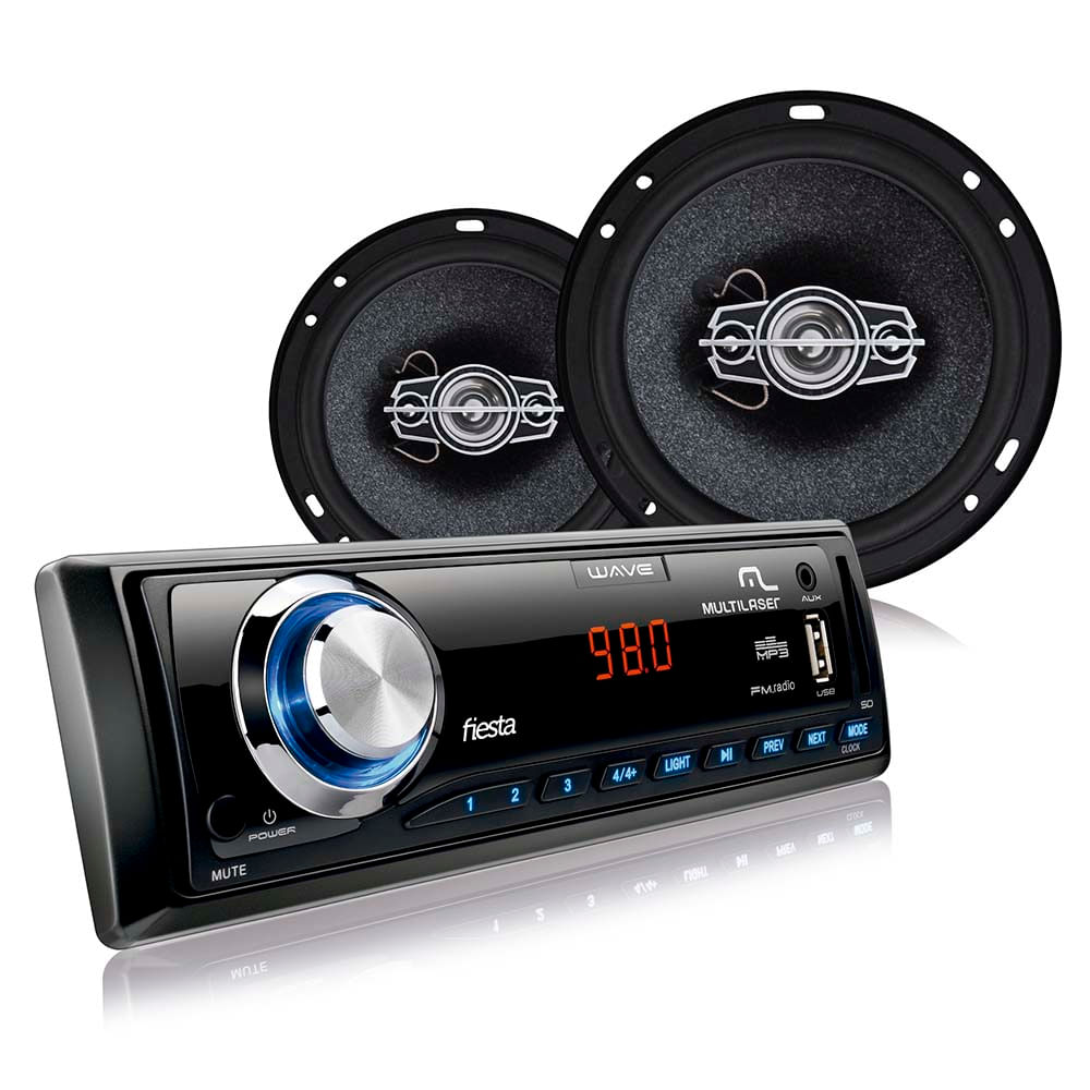 16c9b241d02 Kit Automotivo Multilaser - Mp3 + 4 Alto Falantes 6 - AU950 ...