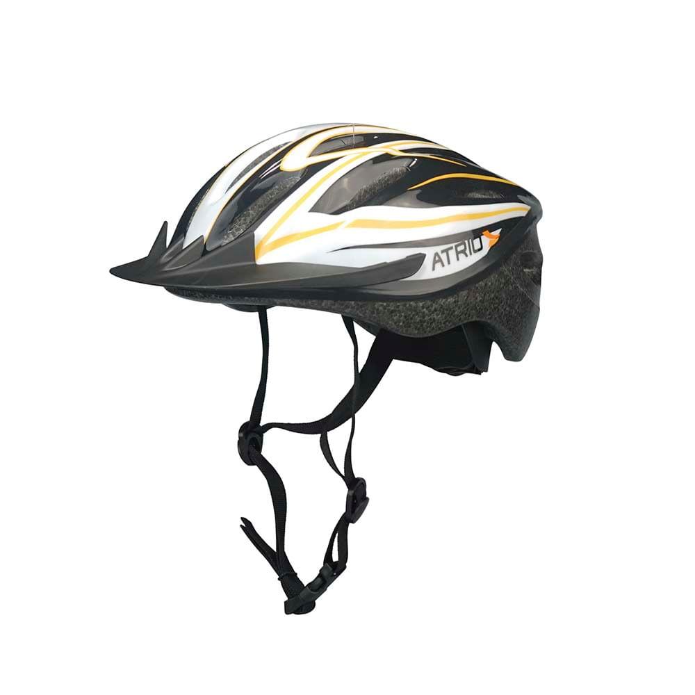 8138dcfae Capacete para Ciclismo MTB Tam. M Alças Ajustáveis e 19 Entradas de Ar  Laranja Branco Atrio - BI035