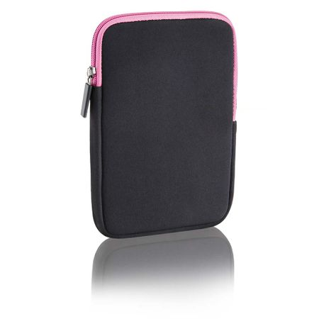 Case Neoprene Multilaser 10Pol Colors - Preto E Rosa - BO140