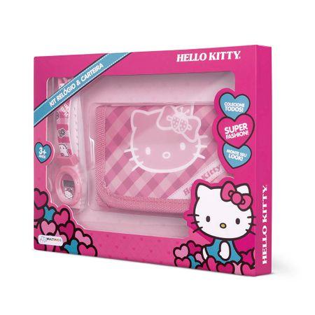 Kit Relógio e Carteira da Hello Kitty Alimentação Bateria LR41 Indicado para +3...