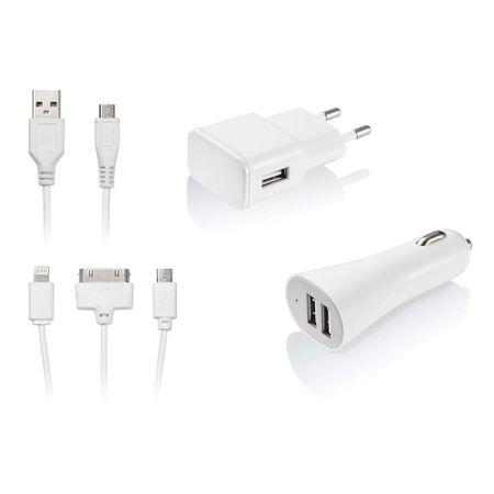 Kit De Carregador 3 Em 1 Micro USB/ IOS4/ IOS5 Multilaser - CB068