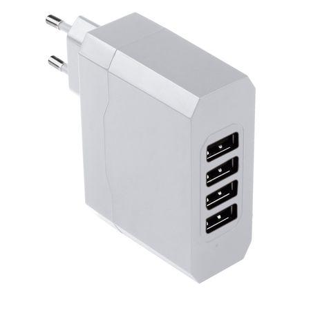 Carregador de Parede Multilaser com 4 Saidas USB/ Bivolt/ 4.8A - CB076