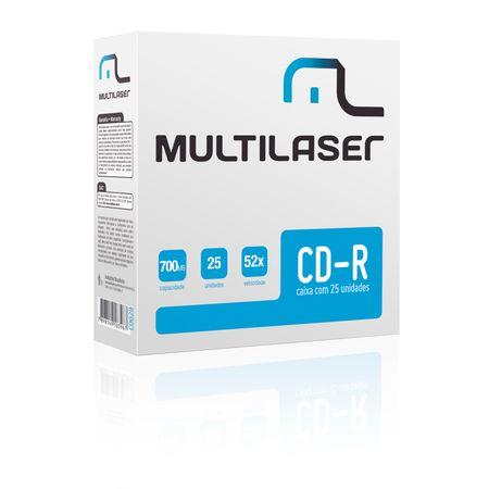 Mídia Multilaser Cd-R Vel. 52X - 25 Un. Envelope Impresso Em Caixa - CD029