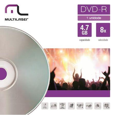 Mídia Dvd-R Velocidade 16X Unitário Em Envelope Multilaser DV018
