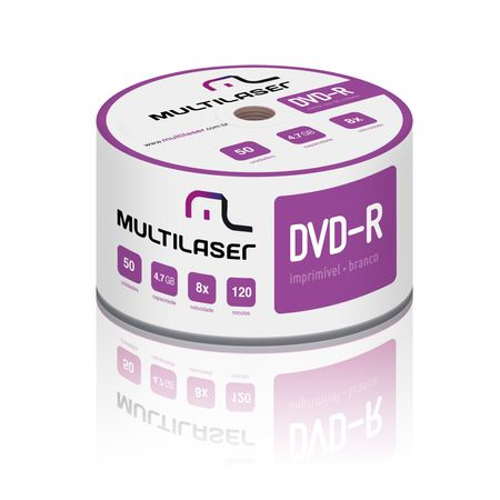 Mídia Multilaser Dvd-R Printable 08X 4.7 Gb - DV052