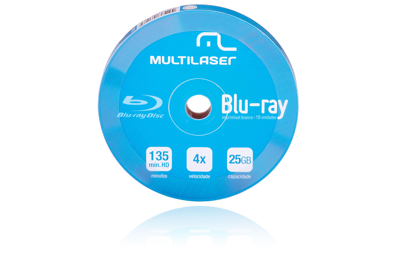 Foto 1 - Midia DVD-R Multilaser Dv057 Shrink Blue Ray Pino com 10 Unidades - DV057