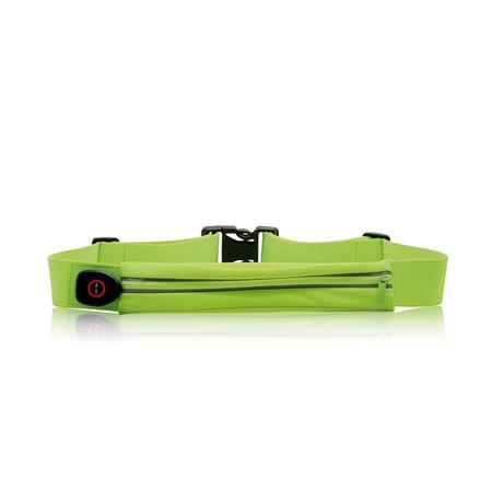 Cinta Esportiva com LED Comporta Smartphone 5,5 Pol. Resistente à Água Tam....