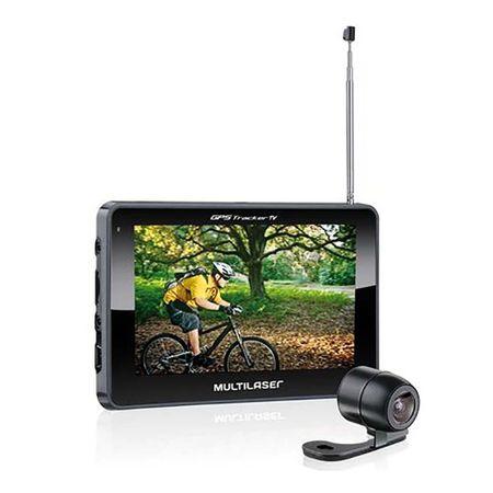"""Navegador GPS Multilaser Tracker III Tela 4.3"""" com Câmera de Ré e TV Digital -..."""