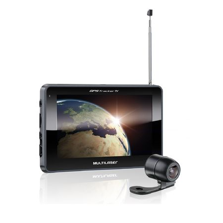 GPS LCD 7 Pol. Touch Tv Digital Rádio FM com Câmera de Ré Avin Multilaser -...