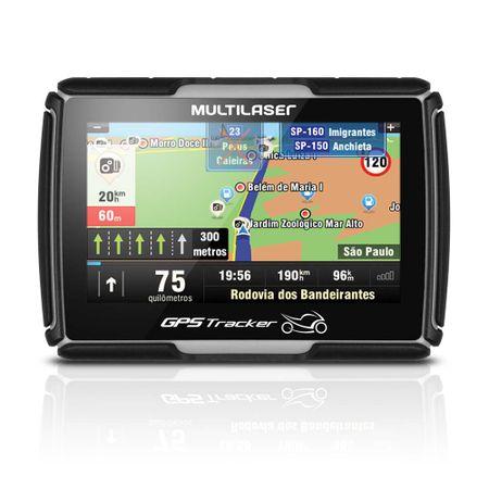 "Navegador GPS Multilaser Tracker para Moto Tela 4.3"" - GP040"