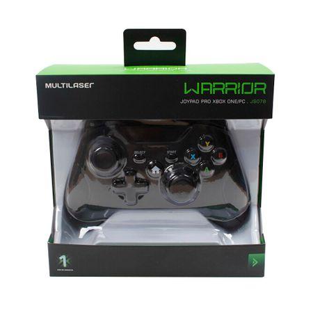 Controle Xbox One Warrior Preto - JS078