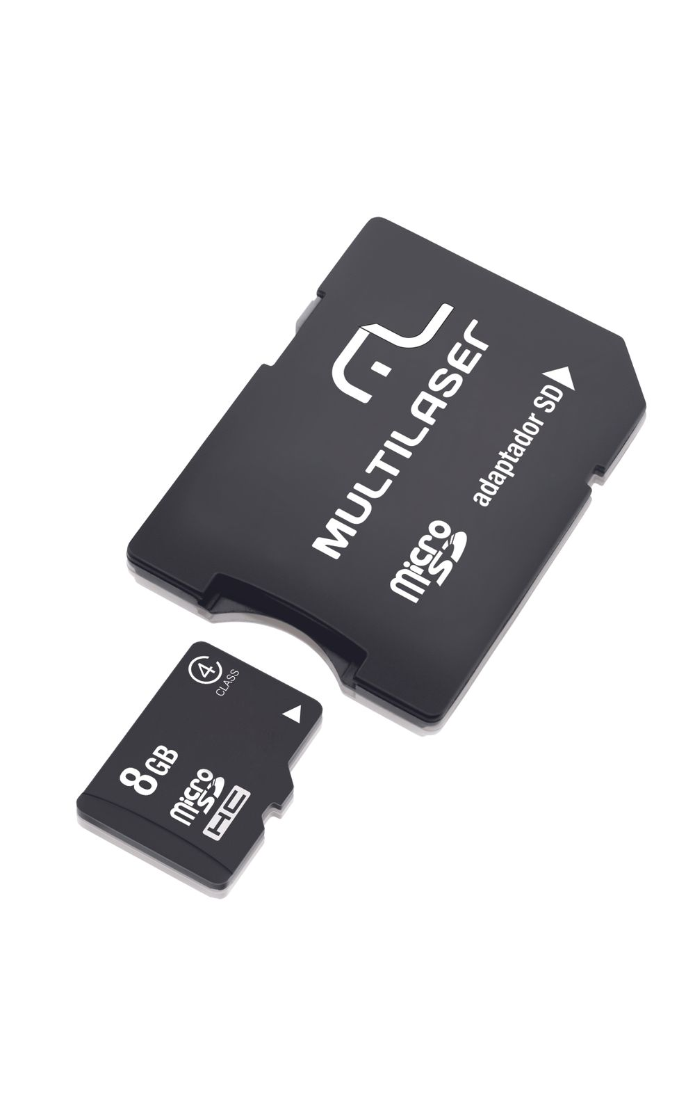 Foto 1 - Adaptador Multilaser SD Cartão de Memória Classe 4 8GB MC004